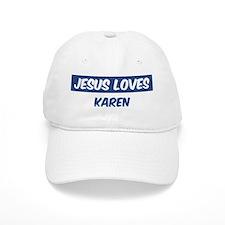 Jesus Loves Karen Baseball Cap