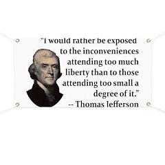 Thomas Jefferson on Liberty Banner