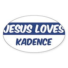Jesus Loves Kadence Oval Decal