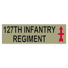 127th Infantry Regiment <BR>Bumper Bumper Sticker