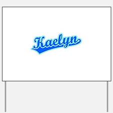 Retro Kaelyn (Blue) Yard Sign