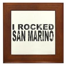 I Rocked San Marino Framed Tile
