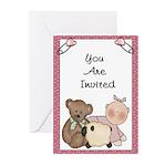 Baby (Girl ) Shower Invitations (Pk of 20)