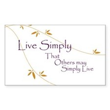 Live Simply Rectangle Decal