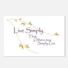 Live Simply Postcards (Package of 8)