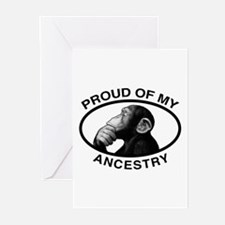 Proud of my Ancestry Chimp Greeting Cards (Pk of 1