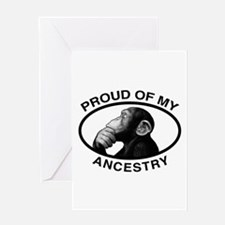 Proud of my Ancestry Chimp Greeting Card