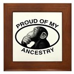 Proud of my Ancestry Chimp Framed Tile