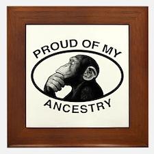 Proud of my Ancestry Chimp Framed Tile