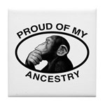 Proud of my Ancestry Chimp Tile Coaster