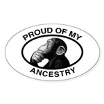 Proud of my Ancestry Chimp Oval Sticker (10 pk)