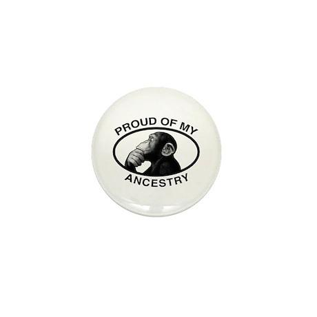 Proud of my Ancestry Chimp Mini Button