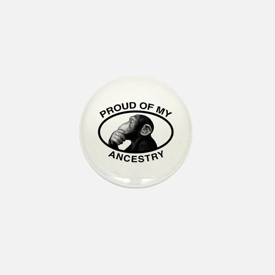 Proud of my Ancestry Chimp Mini Button (100 pack)