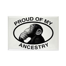 Proud of my Ancestry Chimp Rectangle Magnet