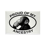 Proud of my Ancestry Chimp Rectangle Magnet (10 pa