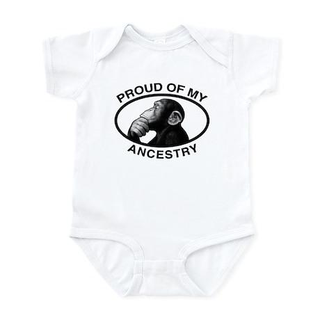 Proud of my Ancestry Chimp Infant Bodysuit