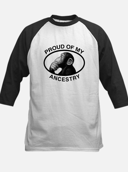 Proud of my Ancestry Chimp Kids Baseball Jersey