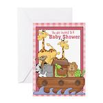 Noah's Ark Baby Shower Invitations (Pink)