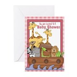 Pink lion greeting card Stationery