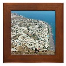 Kamari View, Santorini Framed Tile