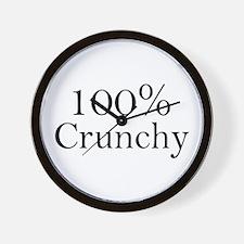 100% Crunchy Wall Clock
