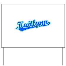 Retro Kaitlynn (Blue) Yard Sign