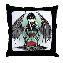 Winged Hourglass Throw Pillow