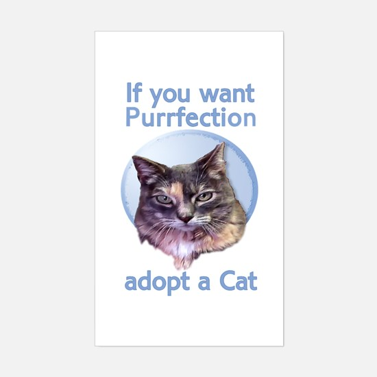 adopt Purrfection Rectangle Decal