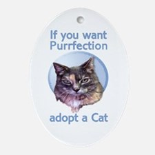 adopt Purrfection Oval Ornament