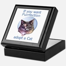 adopt Purrfection Keepsake Box