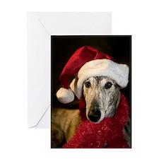 Santa Greyhound Greeting Card