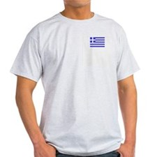 Flag of Greece 3 Ash Grey T-Shirt