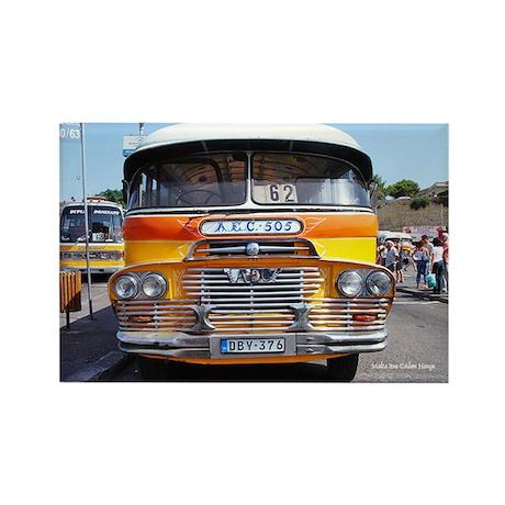 Malta Bus Rectangle Magnet