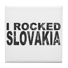 I Rocked Slovakia Tile Coaster