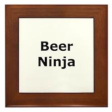 Beer Ninja Framed Tile