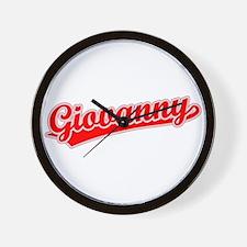 Retro Giovanny (Red) Wall Clock