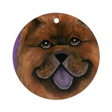 Chow Ornament (Round)