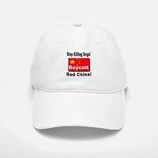 Stop Killing Dogs Boycott Red Baseball Baseball Cap