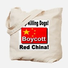 Stop Killing Dogs Boycott Red Tote Bag