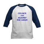 Celiacs Go Against The Grain Kids Baseball Jersey