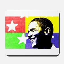 Rock Star Obama 08 Mousepad