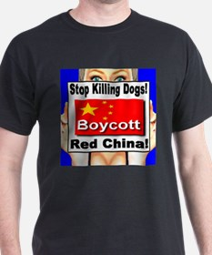 Stop Killing Dogs Boycott Red T-Shirt
