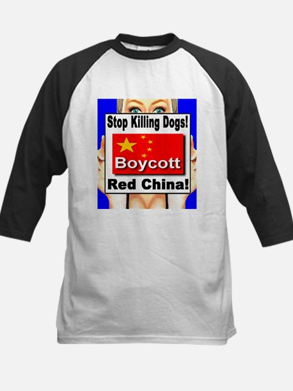 Stop Killing Dogs Boycott Red Kids Baseball Jersey