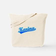 Retro Karina (Blue) Tote Bag