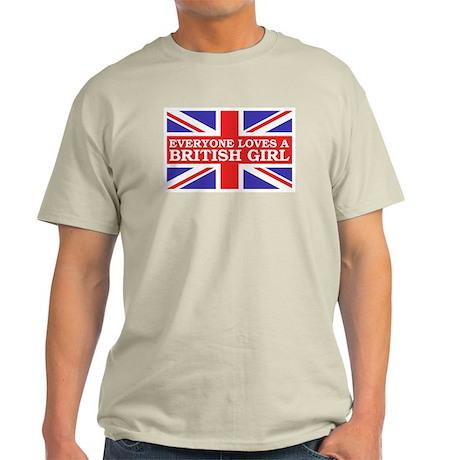 Everyone Loves a British Girl Ash Grey T-Shirt