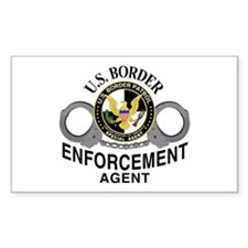 Border Patrol Agent Rectangle Decal