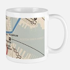 Old Subway Map Mug