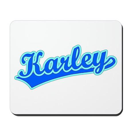 Retro Karley (Blue) Mousepad