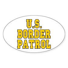 U.S. Border Patrol Oval Decal