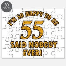 55 birthday design Puzzle